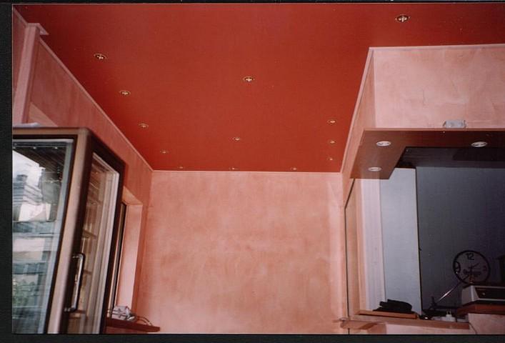 R alisations plafond tendu peinture frehel deco for Peinture plafond mat ou satine