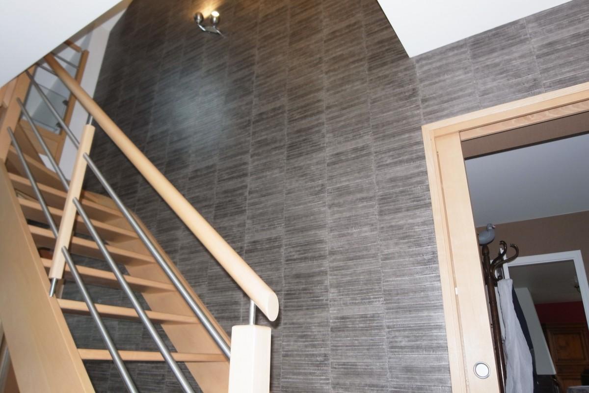 hall d 39 entr e cage escalier peinture frehel deco morbihan loire atlantique. Black Bedroom Furniture Sets. Home Design Ideas