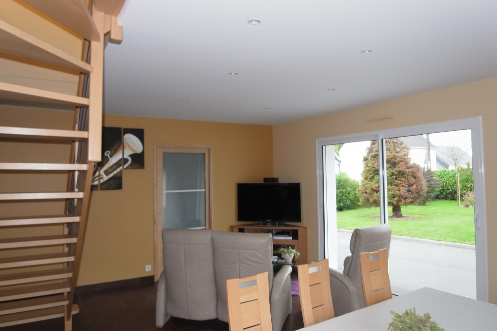 Salon séjour, peinture, revêtement mural, plafond tendu Morbihan, 56