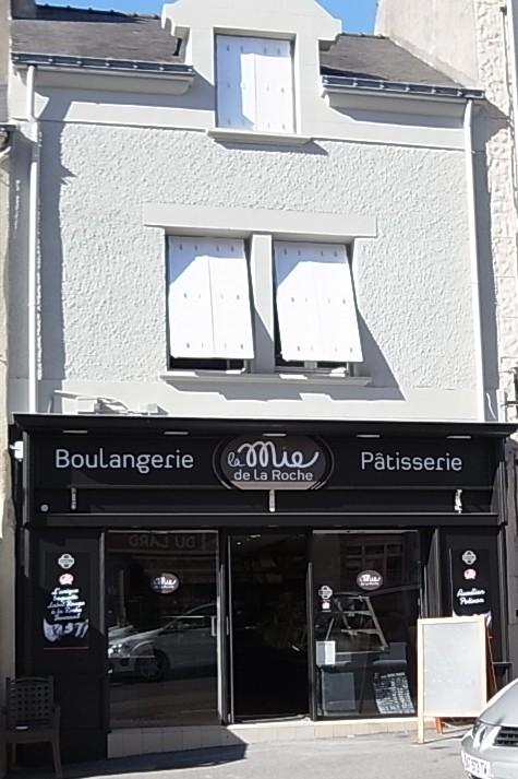Façade commerce, peinture extérieure pour magasin à la Roche Bernard dans le Morbihan, 56, Loire Atlantique, 44
